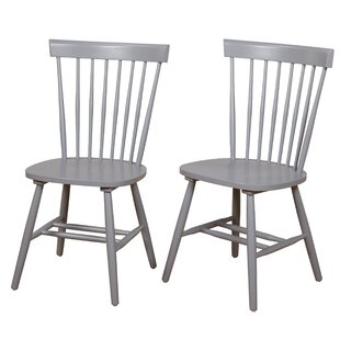 Beachcrest Home Royal Palm Beach Solid Wood Dining Chair (Set of 2)
