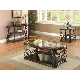 Bearup 3 Piece Coffee Table Set Astoria Grand