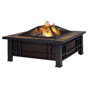 Morrison Steel Wood Burning Fire Pit Table