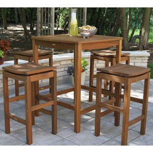 Mallie 5 Piece Bar Height Dining Set