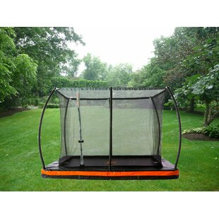 Jump Power In-Ground 12' Rectangular Trampoline with Safety Enclosure