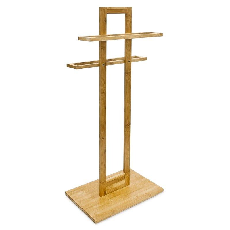 relaxdays freistehender handtuchst nder bamboo. Black Bedroom Furniture Sets. Home Design Ideas