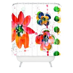 East Urban Home Summer in Watercolor Shower Curtain