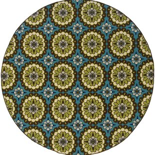 Bullins Blue/Green/Brown Indoor/Outdoor Area Rug