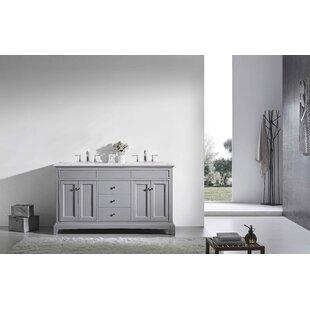 Comparison Pineville 60 Double Bathroom Vanity Set ByCharlton Home