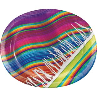 Serape Oval Paper Dinner Plate (Set of 24)