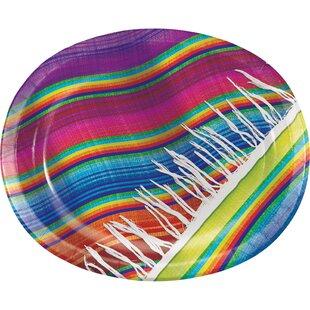 Serape Oval Paper Dinner Plate (Set of 24)
