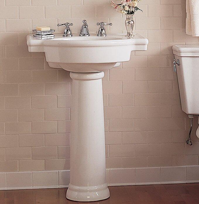 pedestal bathroom sinks. Retrospect Ceramic 27  Pedestal Bathroom Sink with Overflow American Standard