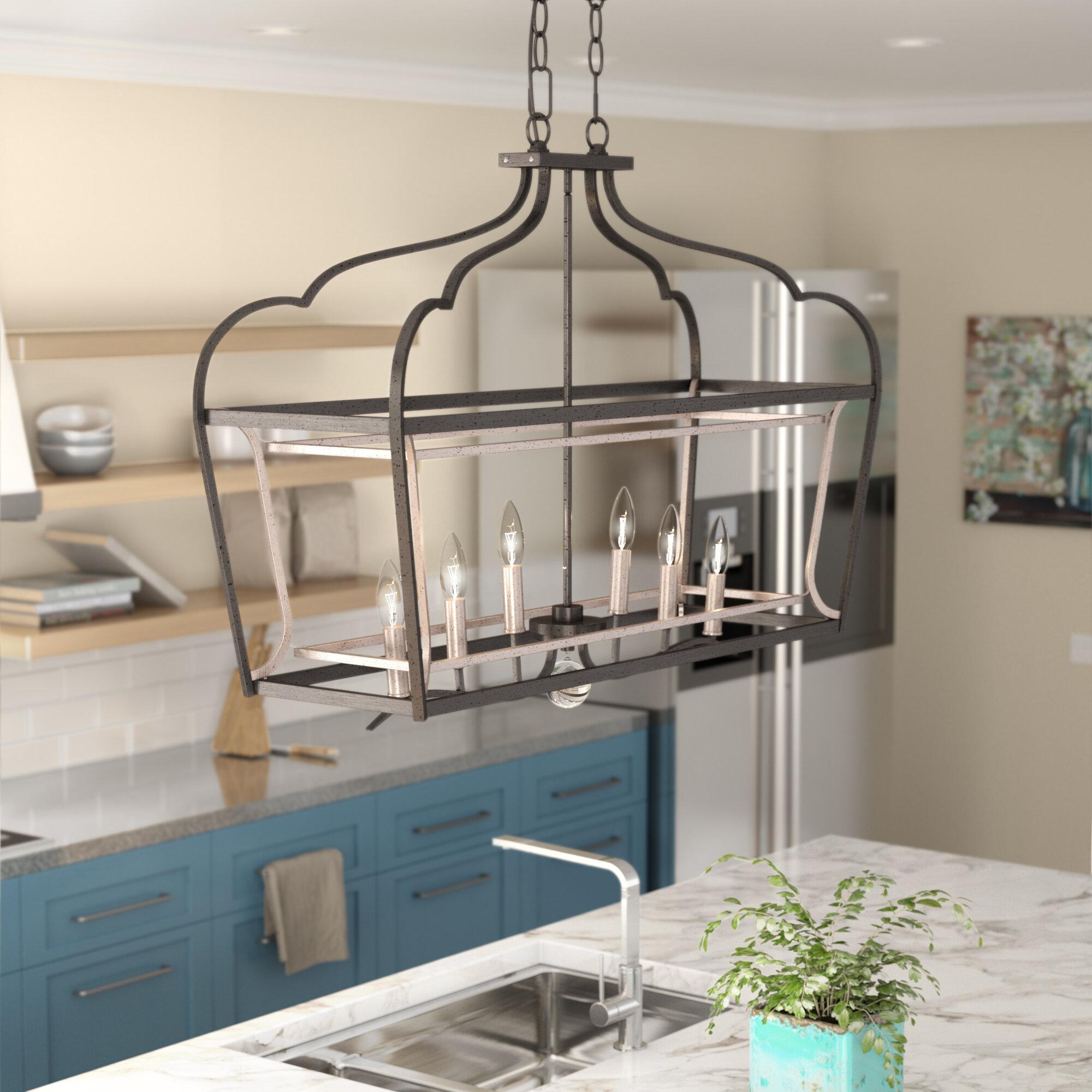 Evangeline 6-Light Kitchen Island Pendant