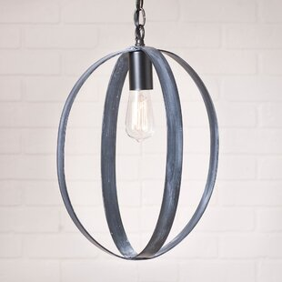 Lake 1-Light Globe Pendant by Gracie Oaks