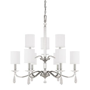 House of Hampton MacGraw 9-Light Shaded Chandelier