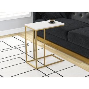 Cork Accent Metal Frame End Table
