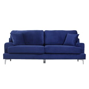 Ultra Modern Plush Velvet Living Room Sofa