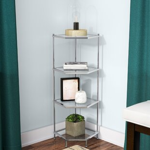 Stamford 4 Tier Corner Unit Bookcase by Wrought Studio