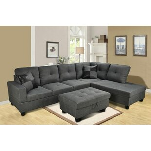 Benjamin Sectional with Ottoman by Beverly Fine Furniture