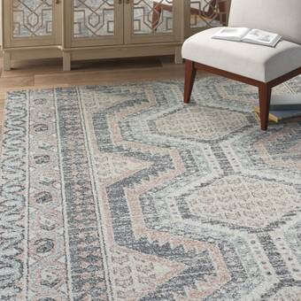 Orren Ellis Debord Blue Ivory Gray Area Rug Reviews Wayfair