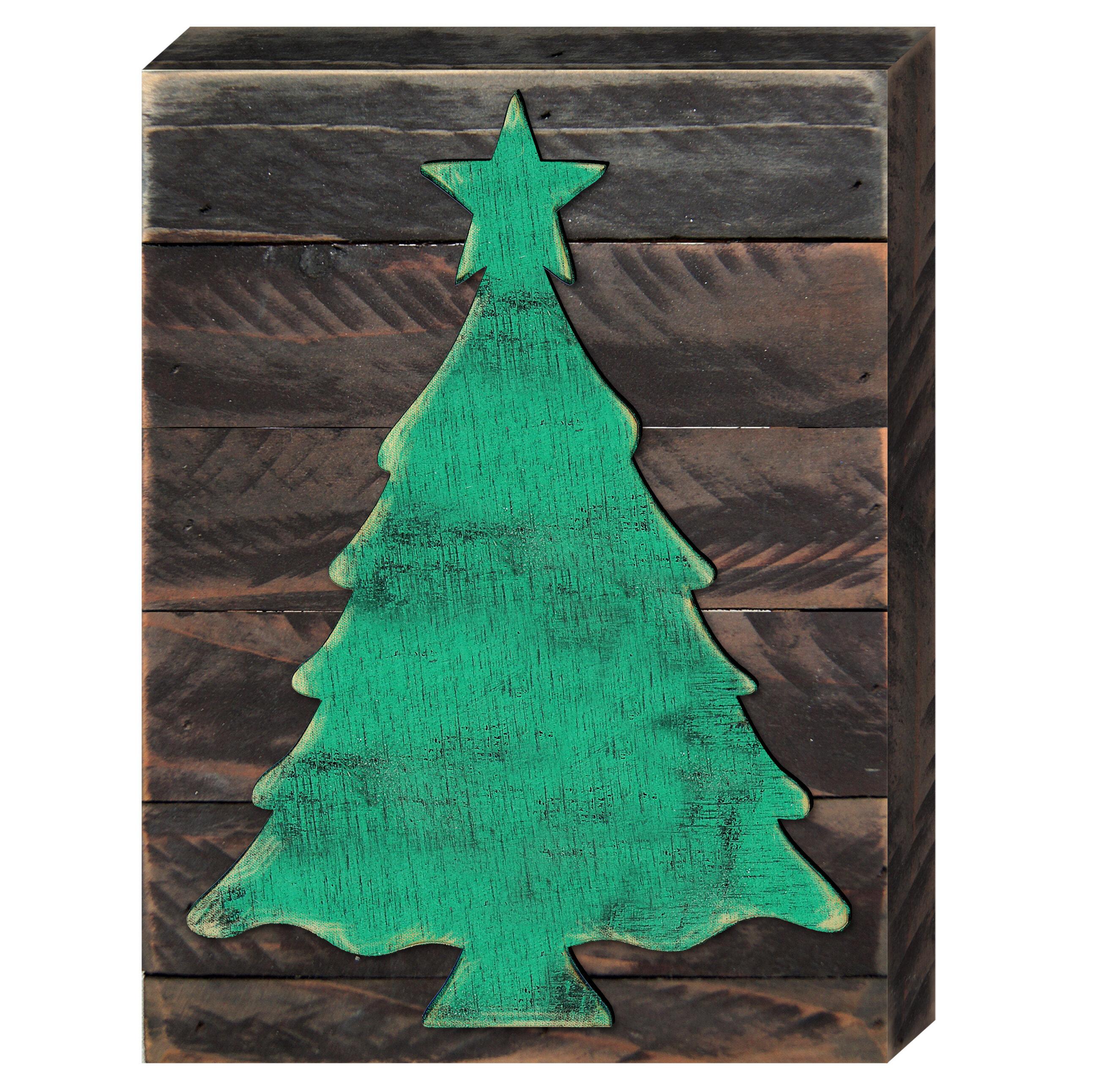 Christmas Tree Wooden Wall Decor
