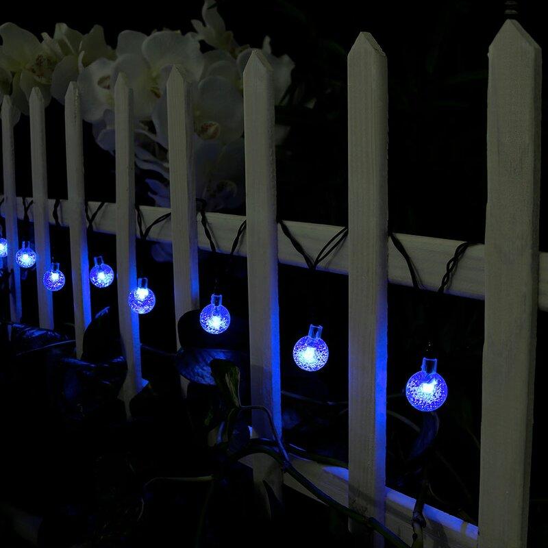 30 LED Rain//Teardrop Solar Powered String Fairy Lights Outdoor Garden Lamp