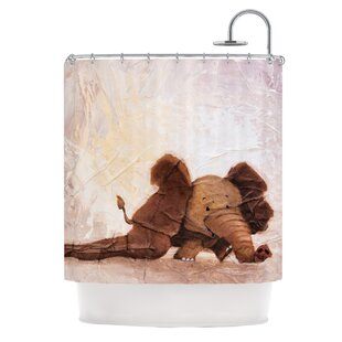 The Elephant with the Long Ears Shower Curtain by KESS InHouse
