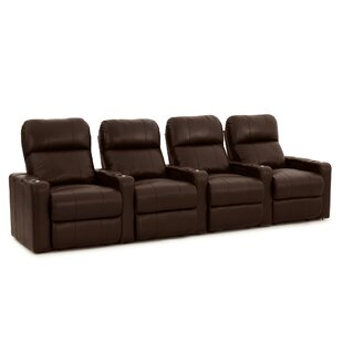 Latitude Run Contemporary Home Theater Row Seating (Row of 4)