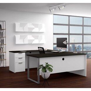Hartleton Reversible U-Shape Executive Desk by Latitude Run