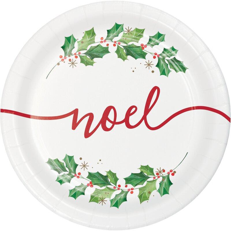 Creative Converting Seasons Greetings Heavy Weight Paper Disposable Dessert Plate Wayfair