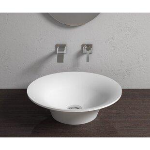 Affordable Stone Circular Vessel Bathroom Sink By InFurniture