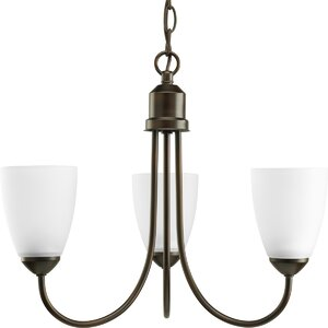 Charlottesville 3-Light Shaded Chandelier