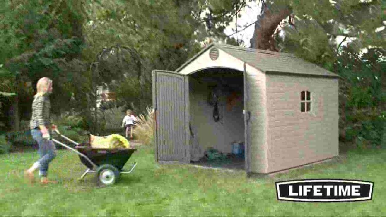 Lifetime 8 ft. W x 15 ft. D Plastic Storage Shed & Reviews | Wayfair