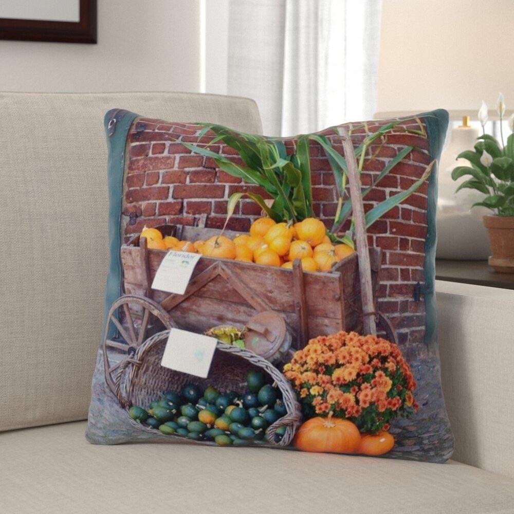 The Holiday Aisle Weinberg Pumpkin Indoor Outdoor Throw Pillow Wayfair