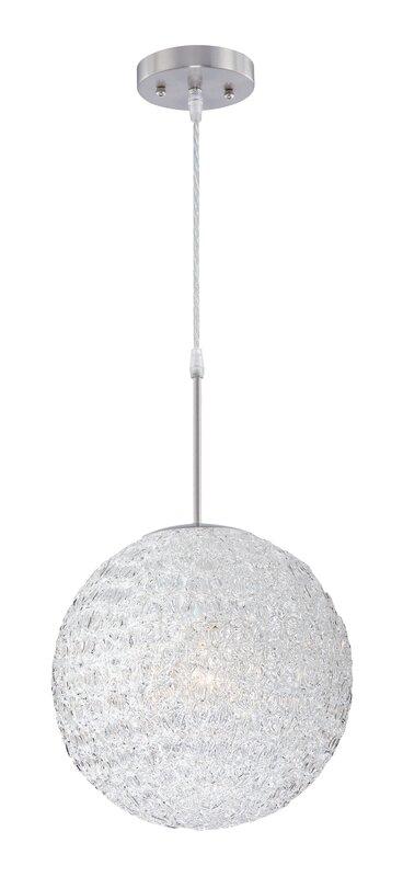 Mirabella 1 light globe pendant