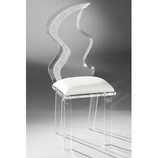 Zig Zag Acrylic Side Chair by Muniz