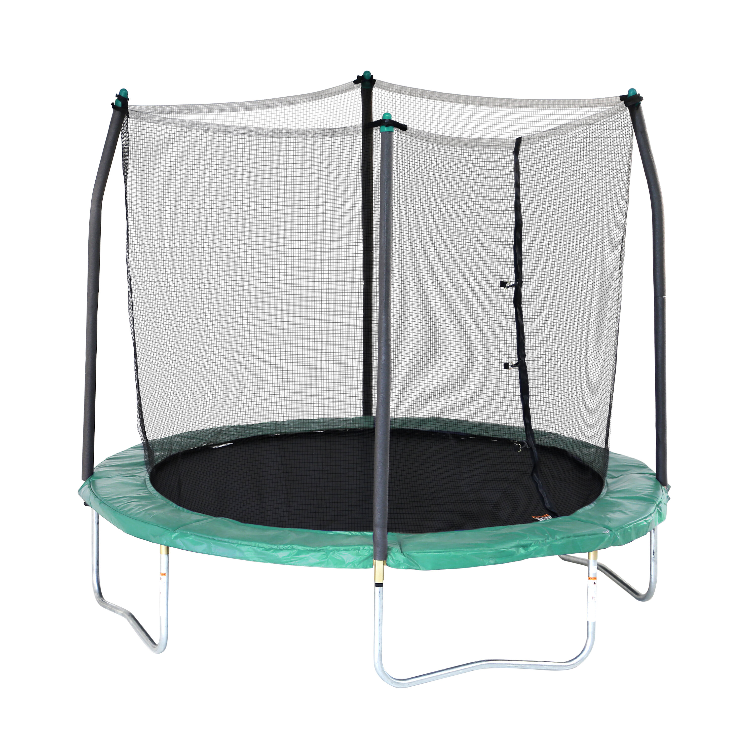 1dd14d934a1f8 Skywalker 8  Round Trampoline with Safety Enclosure   Reviews