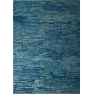 Remmington Handwoven Wool Blue Area Rug ByBrayden Studio