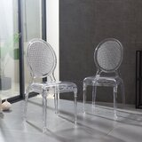 Jalbert Stacking Side Chair in Clear (Set of 2) by Rosdorf Park