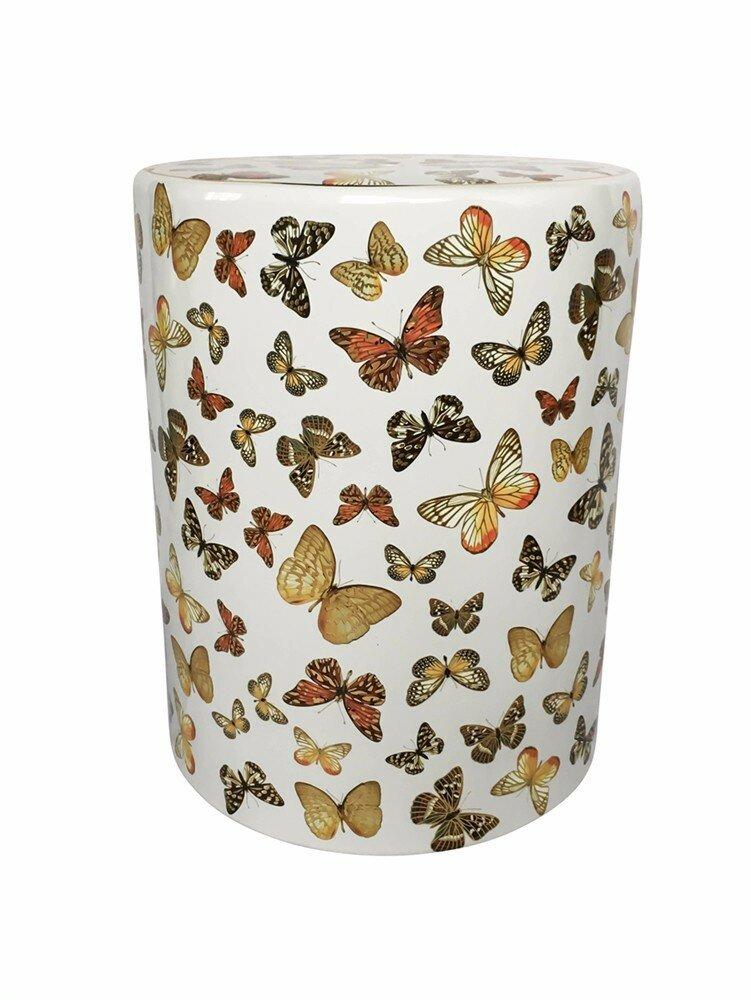 Astoria Grand Fred Fancy Butterfly Garden Stool Wayfair