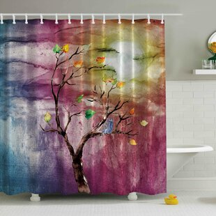 Windy Print Single Shower Curtain