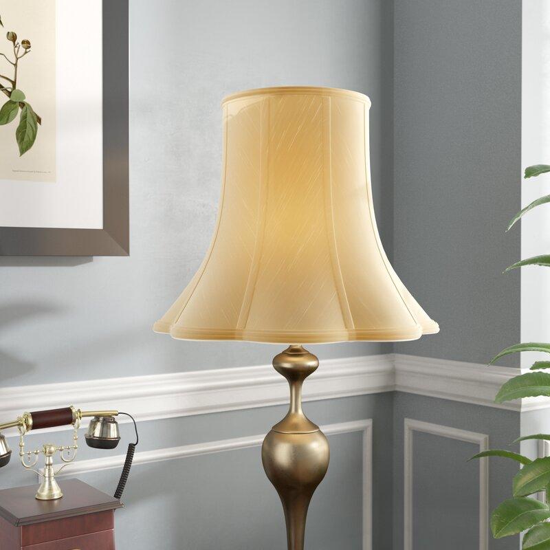 Alcott Hill Silk Shantung Bell Lamp Shade Spider Reviews Wayfair