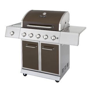 5-Burner Propane Gas Grill with Side Burner by Dyna-Glo