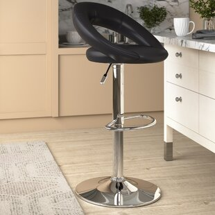 Basham Sorrento Height Adjustable Swivel Bar Stool By Metro Lane