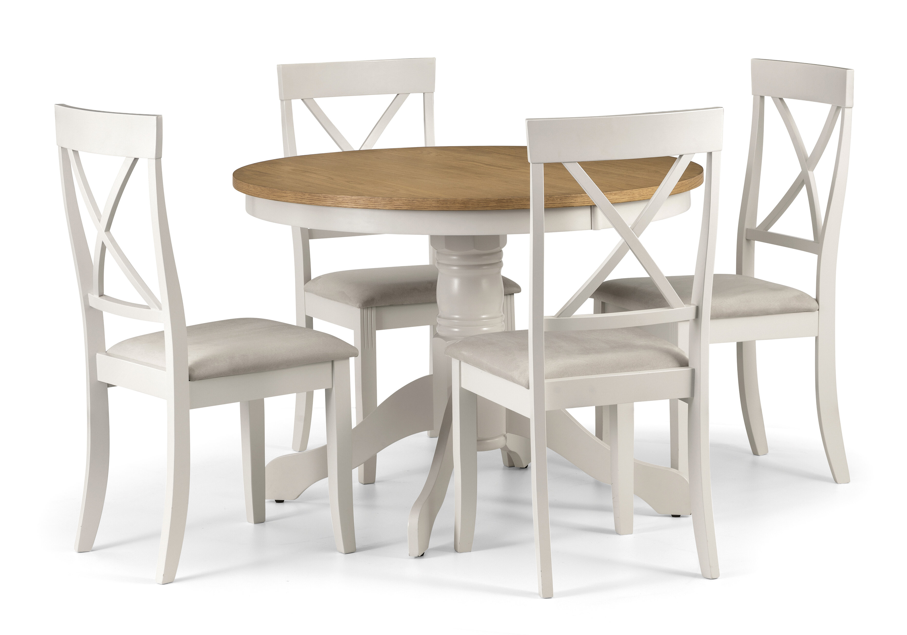 August Grove Isabelle Round Dining Set with 4 Chairs & Reviews ...