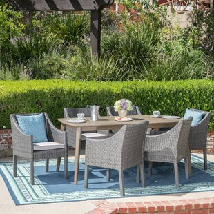 Ivy Bronx Berghauser 7 Piece Dining Set with Cushions