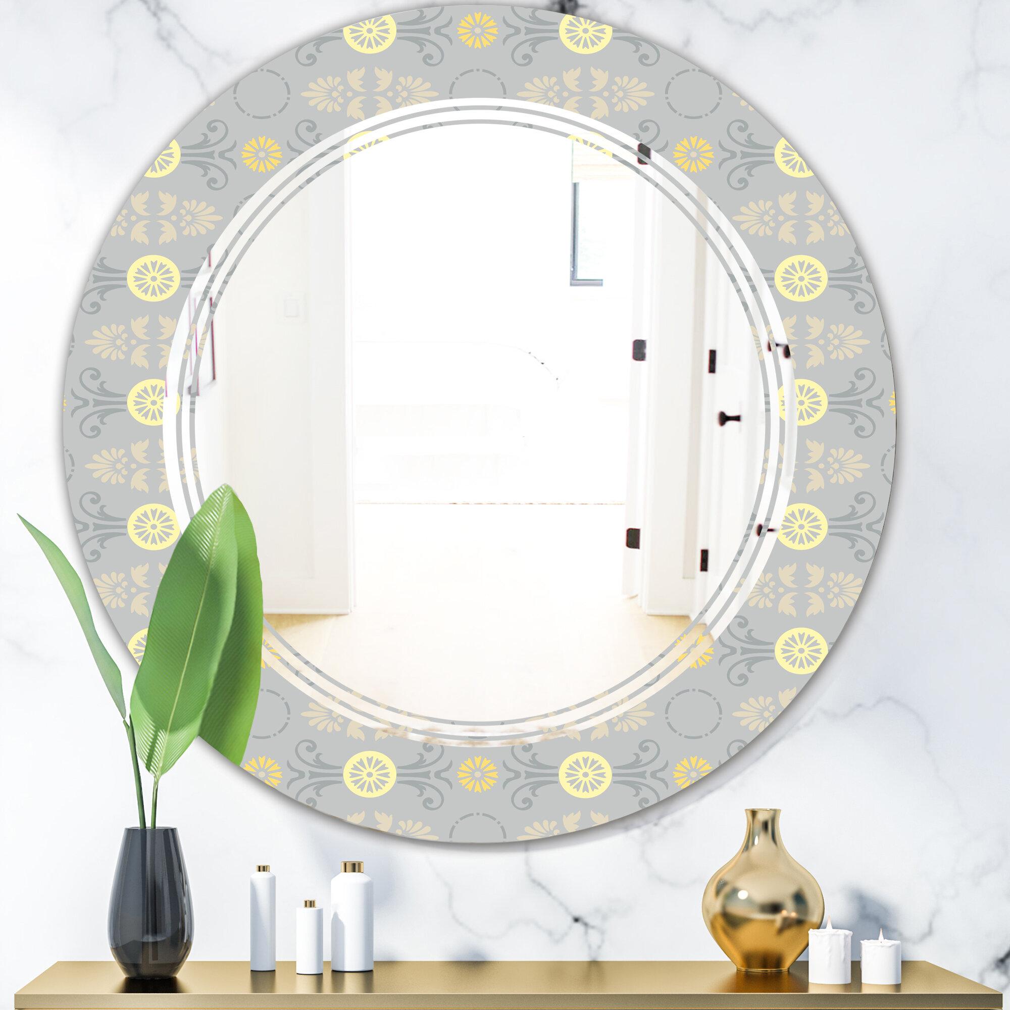 East Urban Home Cornflower Triple C Cottage Americana Frameless Wall Mirror Wayfair
