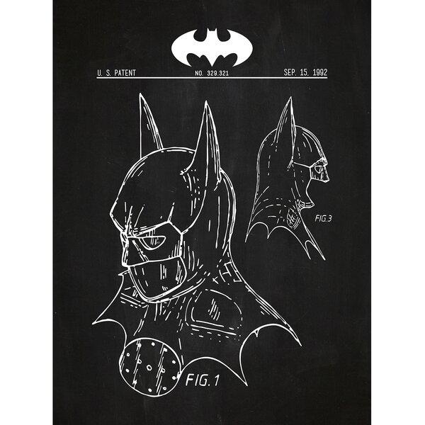 inked and screened sci fi and fantasy batman cowl silk screen
