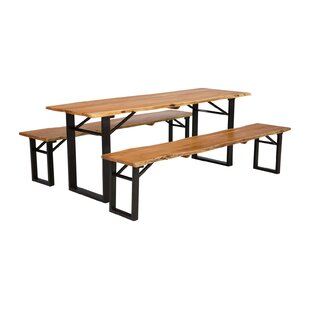 Wildwood Dining Set With 2 Benches By Massivum