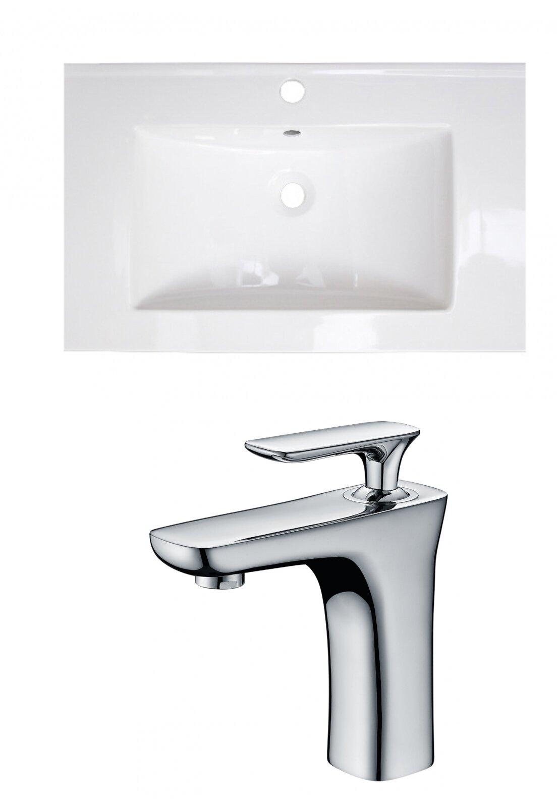 Wrought Studio Kemmel Ceramic 24 Single Bathroom Vanity Top Wayfair