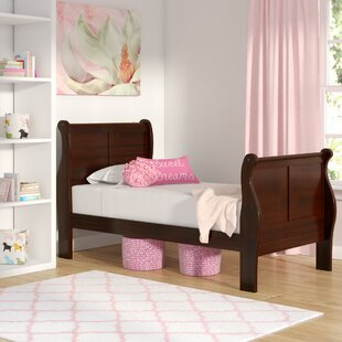 Homestead Twin Wood Sleigh Bed by Three Posts