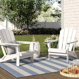 Lopes Plastic Folding Adirondack Chair (Set of 2)