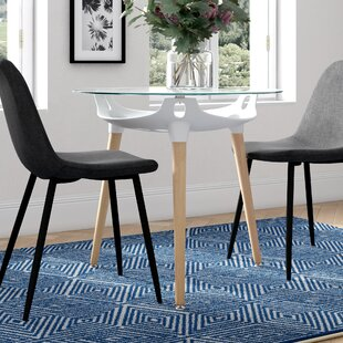 Leath Dining Table By 17 Stories
