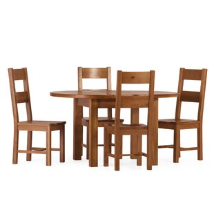 Aaliyah Extendable Dining Set with 4 Chairs by Brick & Barrow